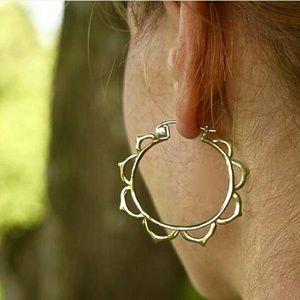 Bohemian flower hoop earings